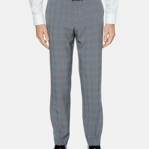 Perry Ellis Men's Pants Portfolio Gray Plaid Windo